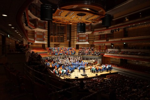 Choir perform at Symphony Hall Community Spirit!